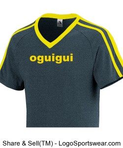 Oguigui black-yellow short sleeves two stripes V Design Zoom