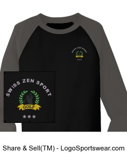 Sport-Tek Youth Raglan Colorblock Fleece Crewneck Design Zoom