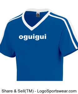 Oguigui state royal-while short sleeve two stripes V collar Design Zoom