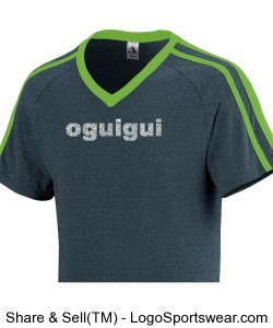 Oguigui state heather-lime short sleeve two stripes V collar Design Zoom